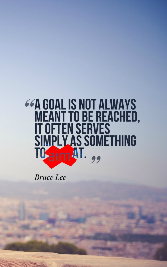 Bruce Lee Goal Quote
