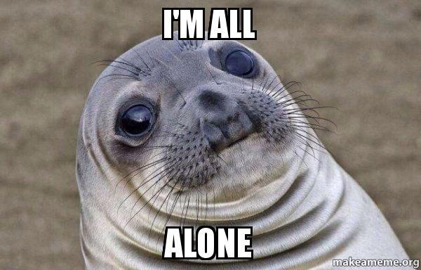 All alone meme