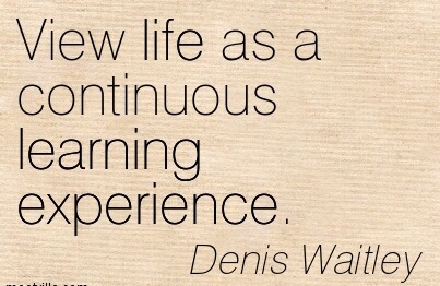 Life learning quote